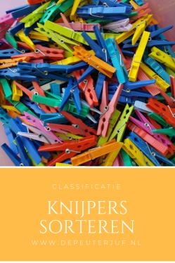 Nodig: Knijpers in verschillende kleuren