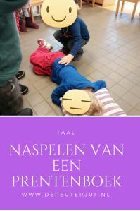 Nodig: Voorwerpen die voorkomen in het boek, rollen onder de kinderen verdelen