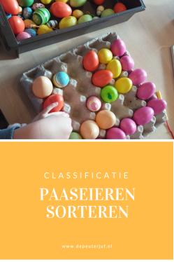 Nodig: Grote eierdozen en verschillende paaseieren