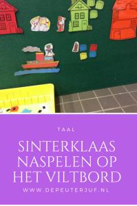 Nodig: Viltbord, diverse afbeeldingen van Sinterklaas en piet met klittenband erachter geplakt