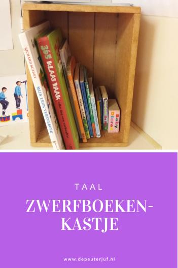 Nodig: Een klein kastje waarin je boeken legt die je verzameld hebt van ouders (die thuis niet meer gelezen worden), die nu door andere ouders (en peuters) meegenomen kunnen worden
